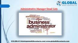 Administrative Manager Email Lists