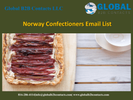 Norway Confectioners Email List