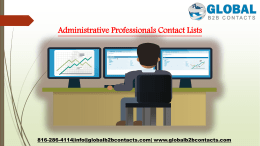 Administrative Professionals Contact Lists