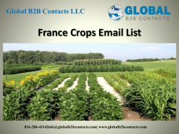France Crops Email List