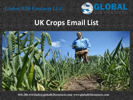 UK Crops Email List