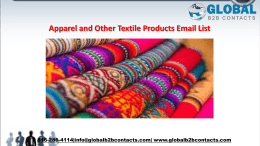 Apparel and Other Textile Products Email List