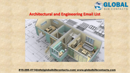 Architectural and Engineering Email List