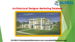 Architectural Designer Marketing Database