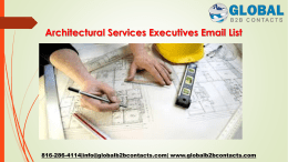 Architectural Services Executives Email List