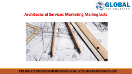 Architectural Services Marketing Mailing Lists