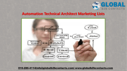 Automation Technical Architect Marketing Lists
