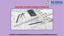 Executive Architect Business Email List