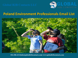 Poland Environment Professionals Email List