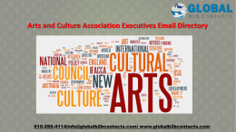Arts and Culture Association Executives Email Directory