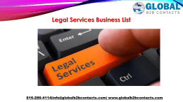 Legal Services Business List