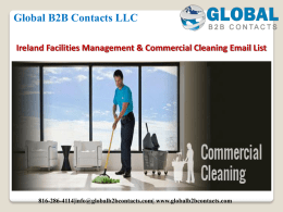 Ireland Facilities Management & Commercial Cleaning Email List