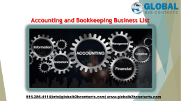 Accounting and Bookkeeping Business List