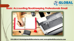 Basic AccountingBookkeeping Professionals Email List