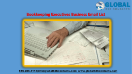 Bookkeeping Executives Business Email List