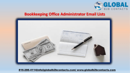 Bookkeeping Office Administrator Email Lists