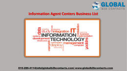 Information Agent Centers Business List