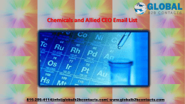 Chemicals and Allied CEO Email List