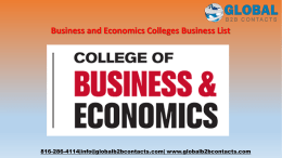 Business and Economics Colleges Business List