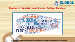 Director of Liberal Arts and Sciences Colleges Database