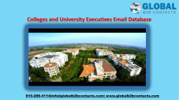 Colleges and University Executives Email Database