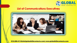 List of Communications Executives