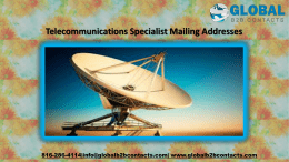 Telecommunications Specialist Mailing Addresses