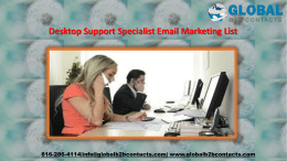 Desktop Support Specialist Email Marketing List