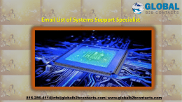Email List of Systems Support Specialist