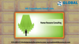 HR Consultants Email Lists